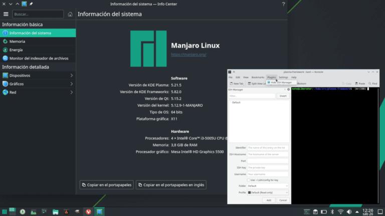 Konsole en KDE Gear 21.08