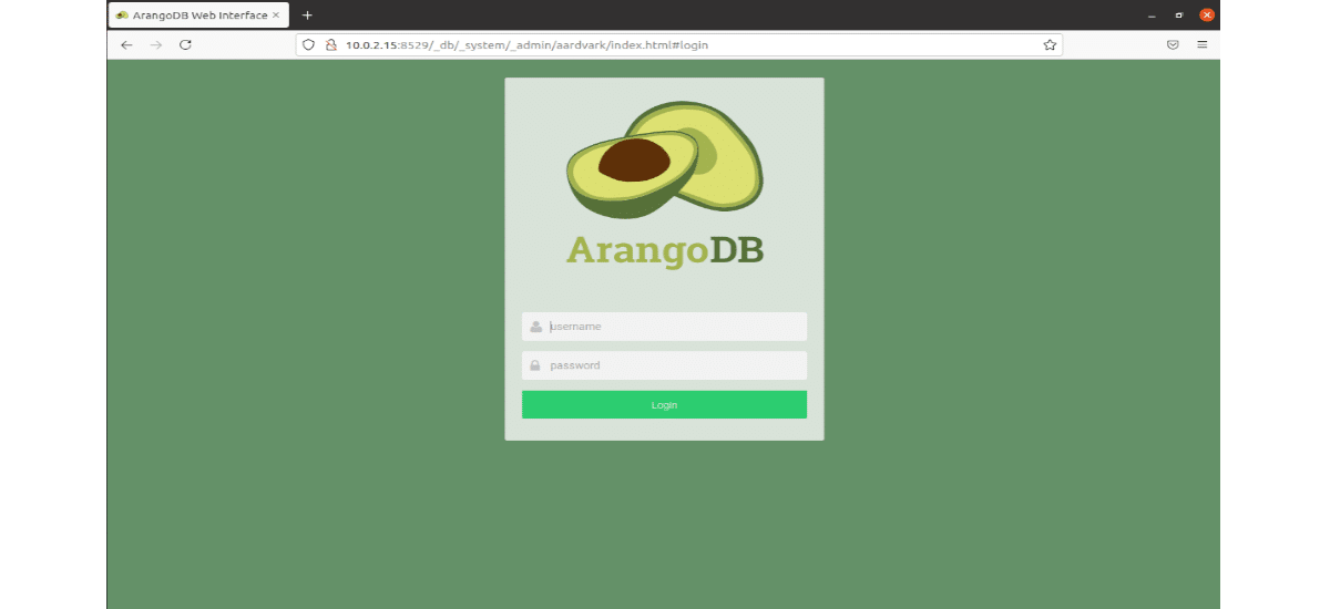 arangodb interfaz web