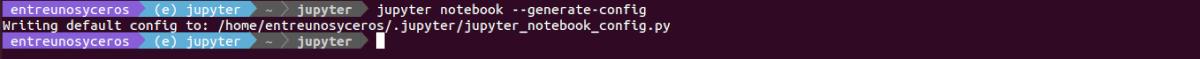configuración de Jupyter Notebook
