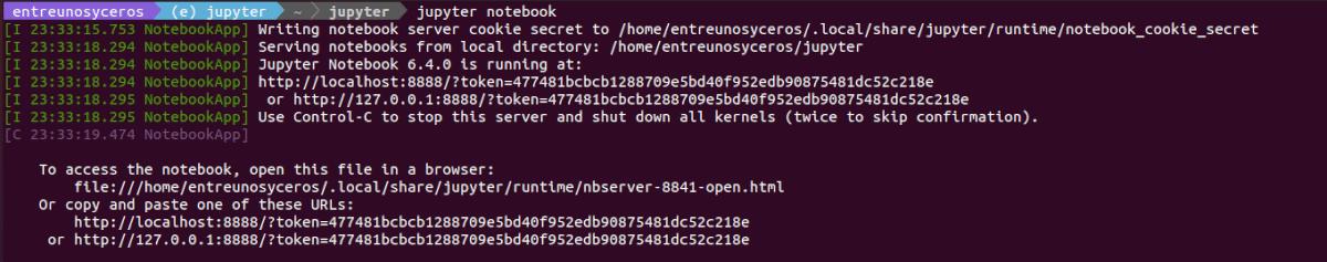 ejecutar servidor de Jupyter