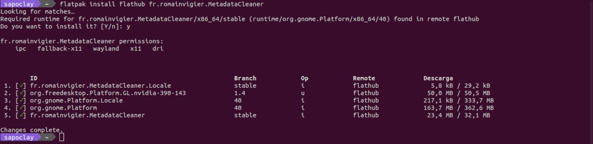instalar metadata cleaner