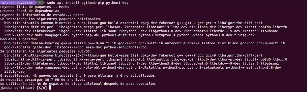 instalar python 3 pip