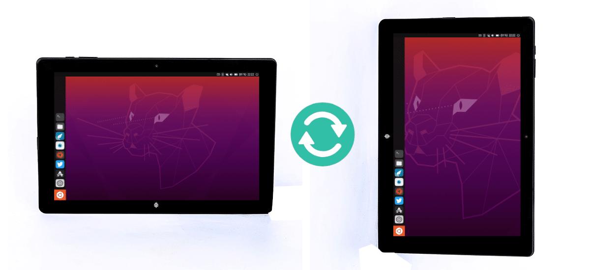 Ubuntu Touch en la PineTab en vertical y horizontal