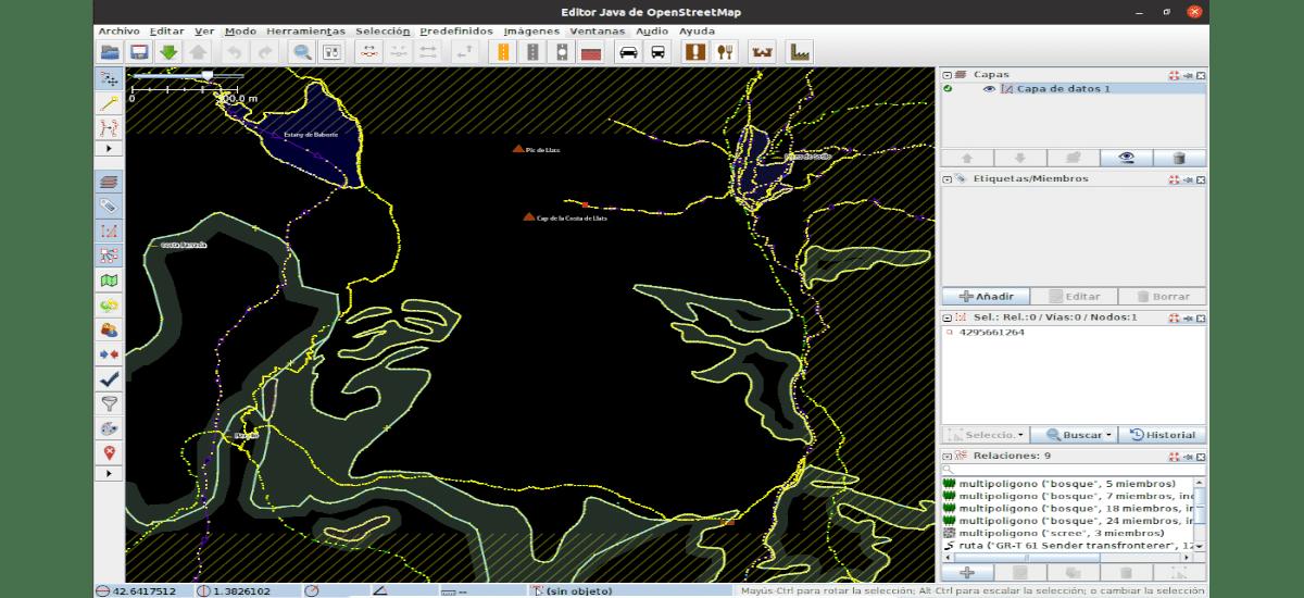 edición de mapa