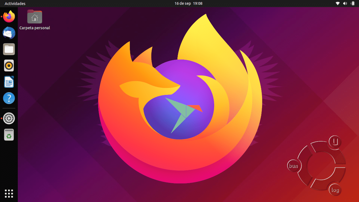 Firefox en versión Snap