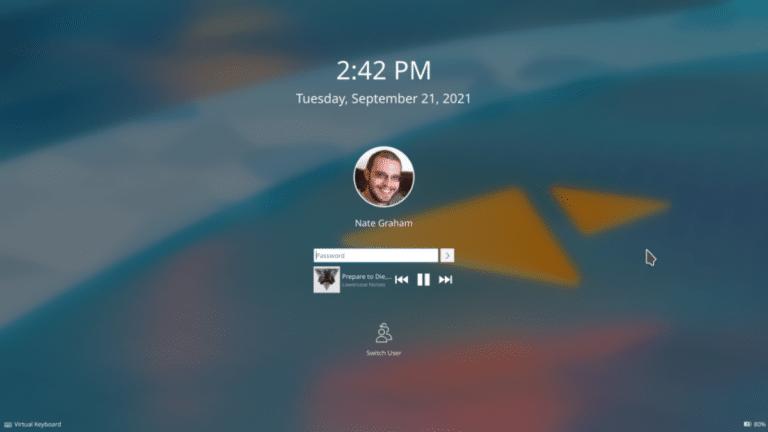Próximo inicio de sesión en KDE