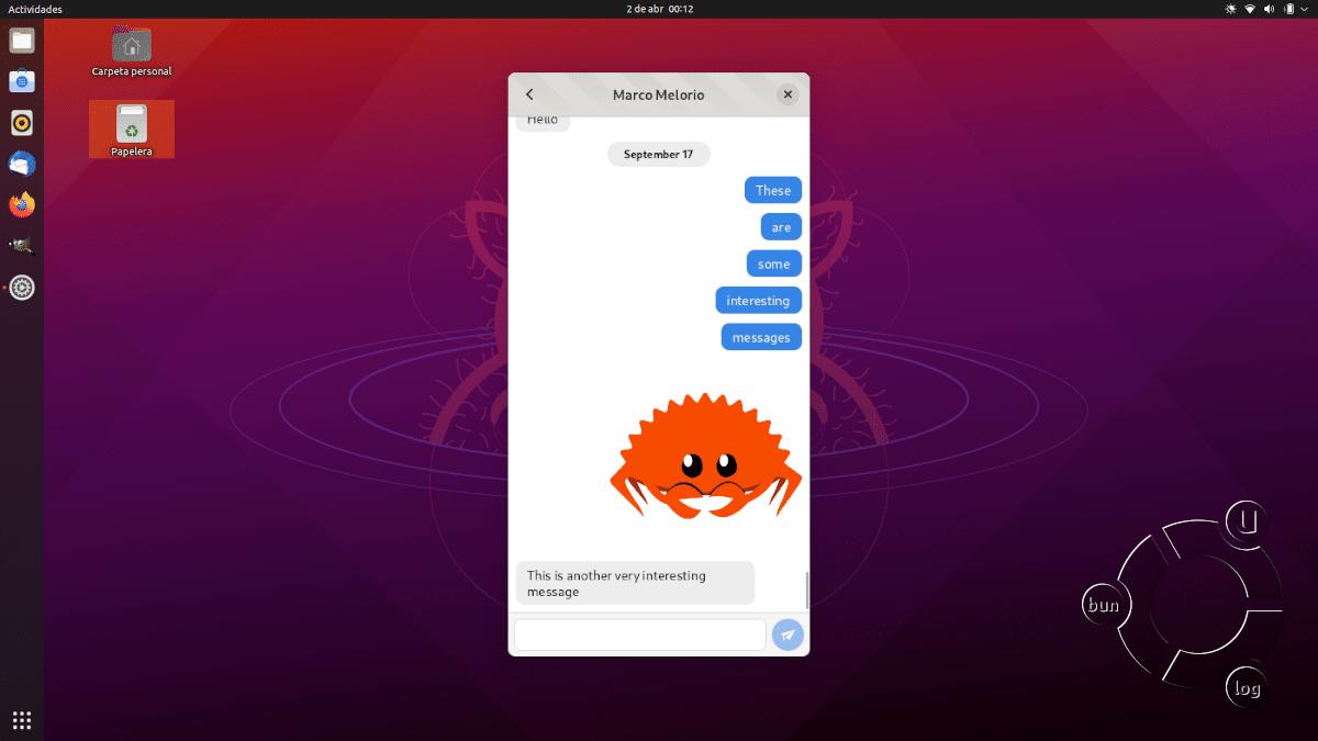 Telegrand en GNOME 3.38