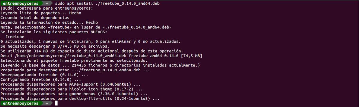 instalar freetube .deb