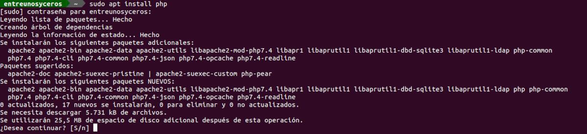 instalar php 7.4