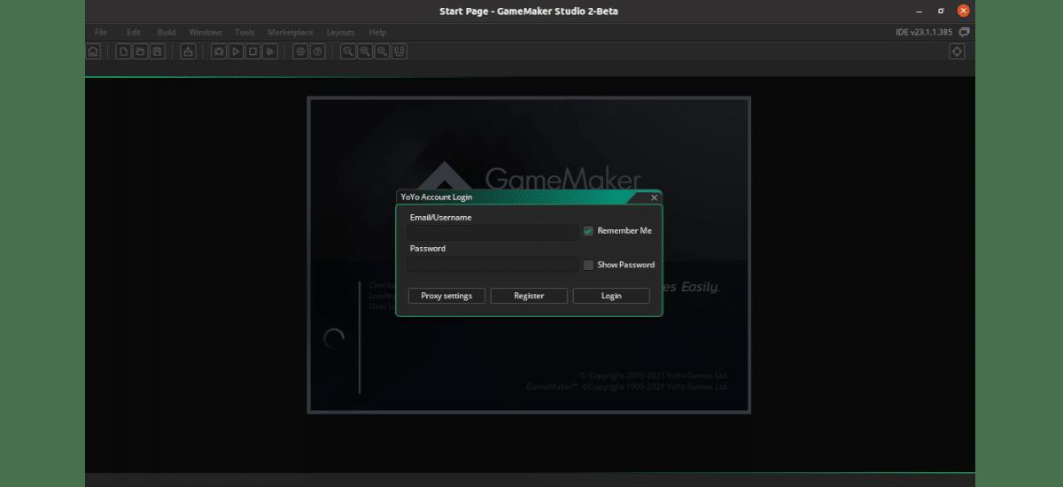 login gamemaker studio 2
