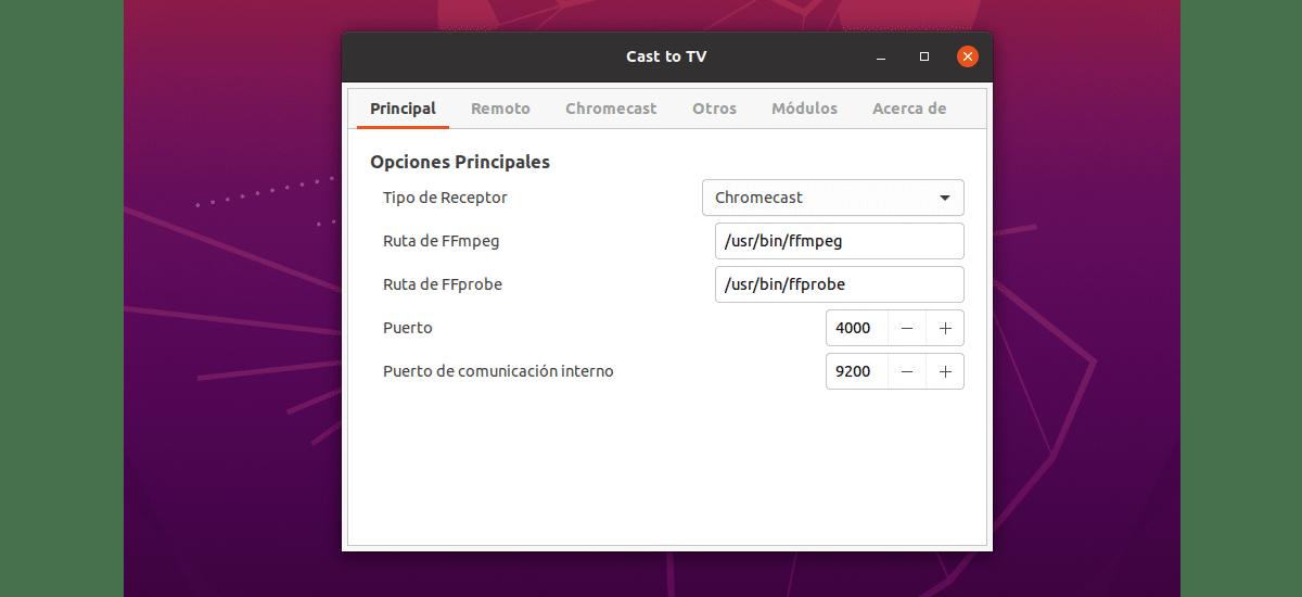 preferencias cast to tv