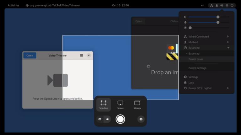Herramienta de capturas de GNOME