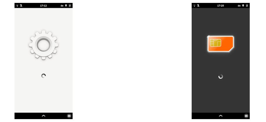 Pantalla de bienvenida en apps de Phosh