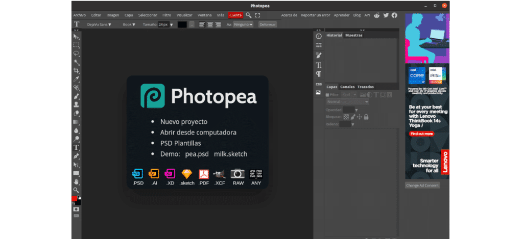 about Photopea