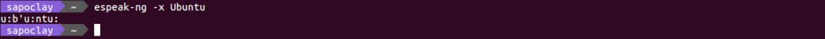 fonemas de Ubuntu