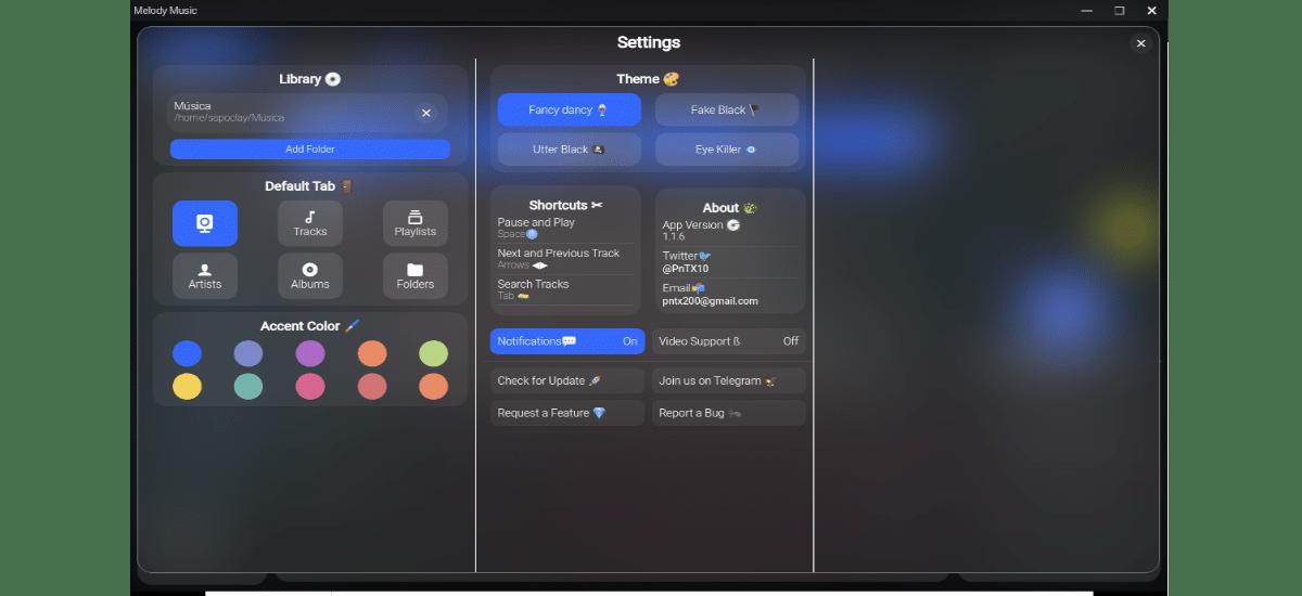 settings del programa